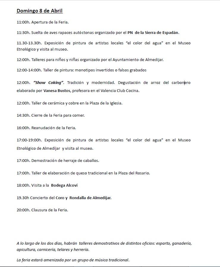 XX Feria de Oficios Domingo