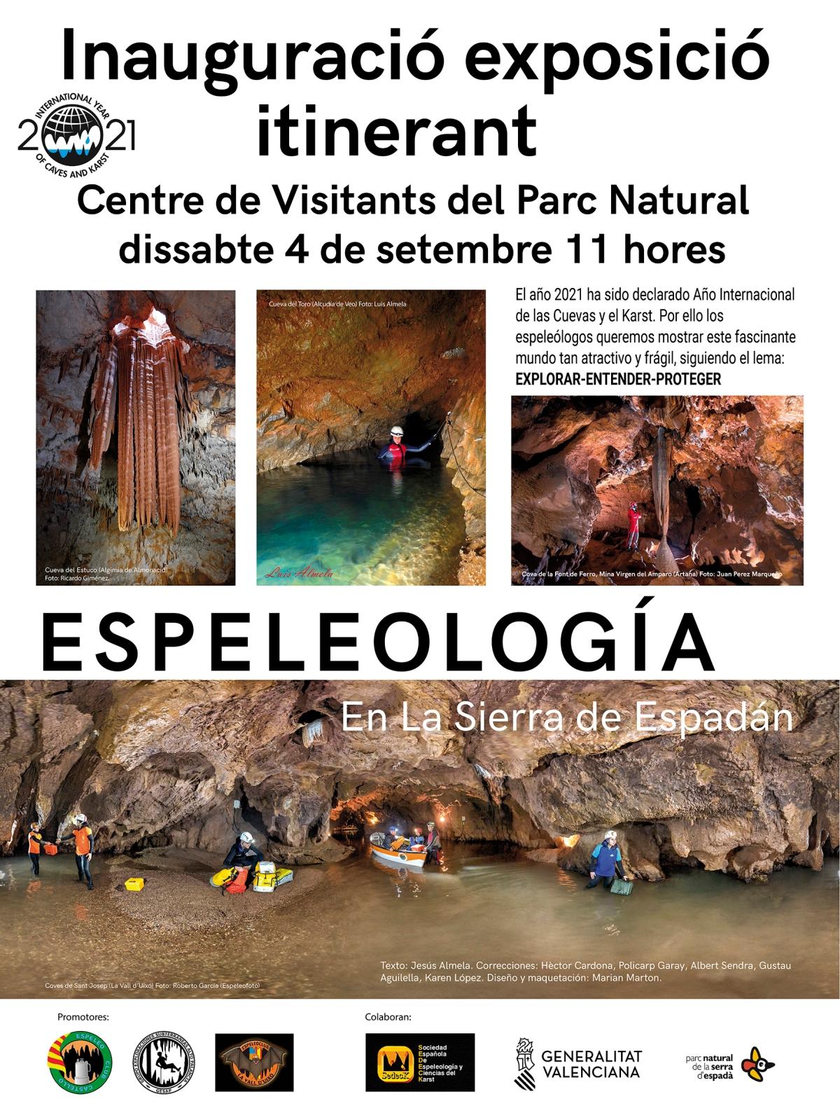 Inauguració exposició itinerant: Espelelogia en la Serrad'Espadà